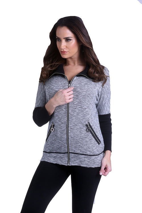 Zip Up Cardigan