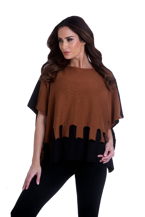 Cut Work Poncho
