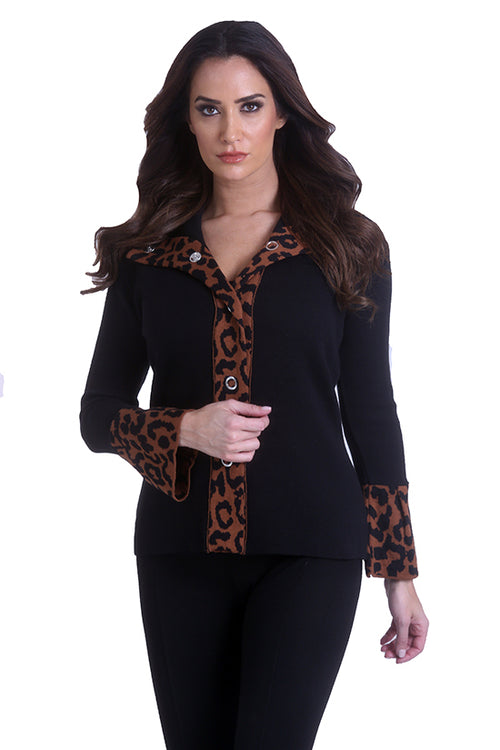 Cheetah Snap Cardigan