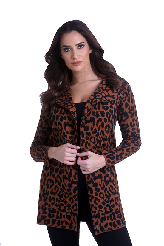 Cheetah Open Cardigan