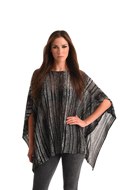 Multi Color Cut-Out Poncho
