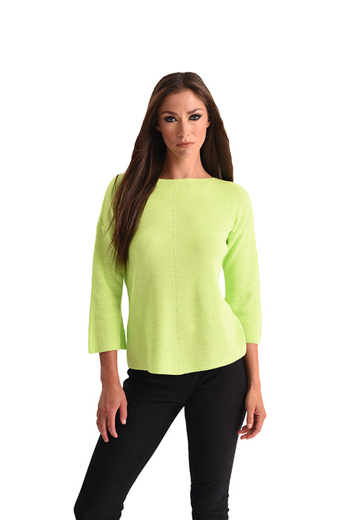 Ribbed 3/4 Sleeve Top