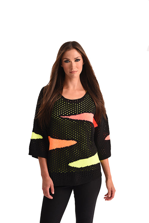 Neon Crochet Oversized Sweater
