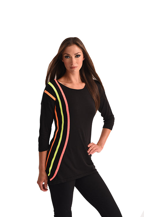 Neon Stripe Tunic