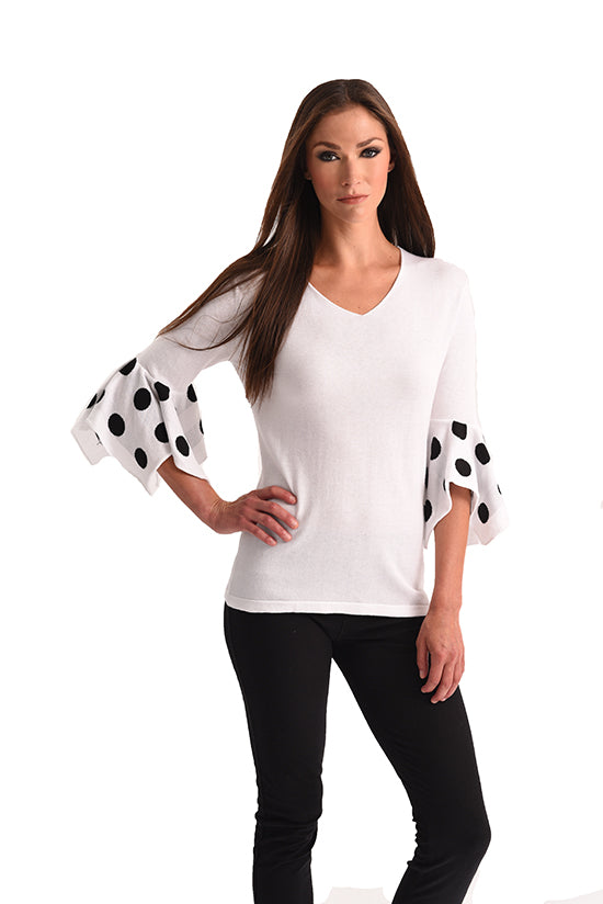 Polkadot Bell Sleeve Top