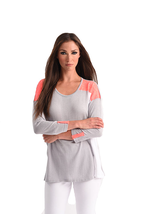 Color Block 3/4 Sleeve Top