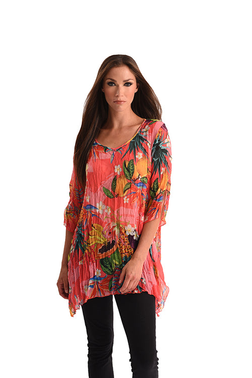 Hawaiian Escape 3/4 Sleeve Tunic