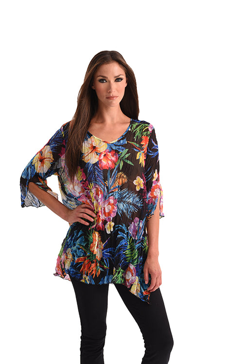 Tropical Paradise 3/4 Sleeve Tunic