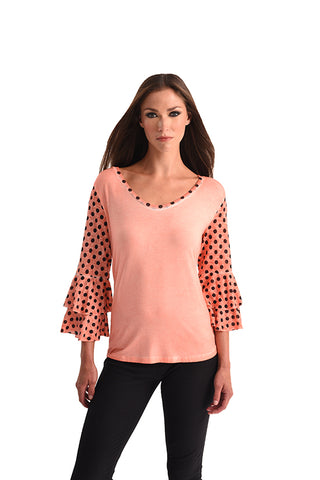 V-Neck Polkadot Top
