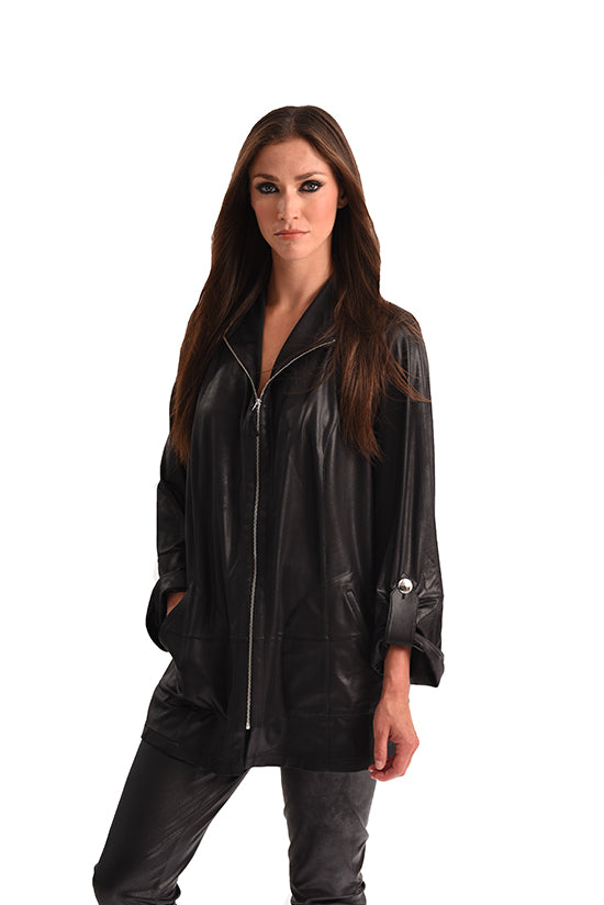 Microfiber Leather Signature Jacket