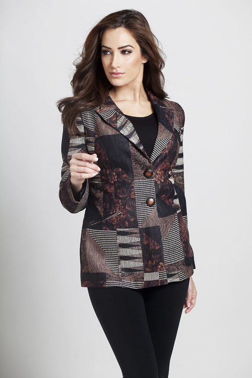 Tapestry Chenille 2-Button Cardigan