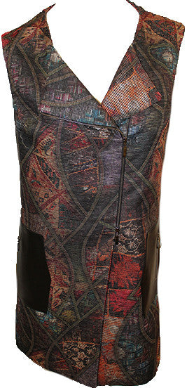 Brocade Chenille Long Vest