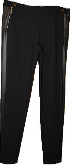 Faux Leather Straight Pant