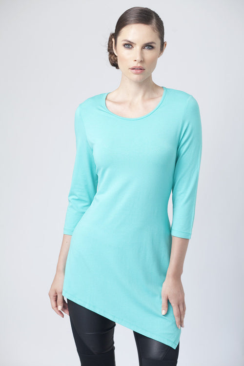 Asymmetrical 3/4 Sleeve Tunic