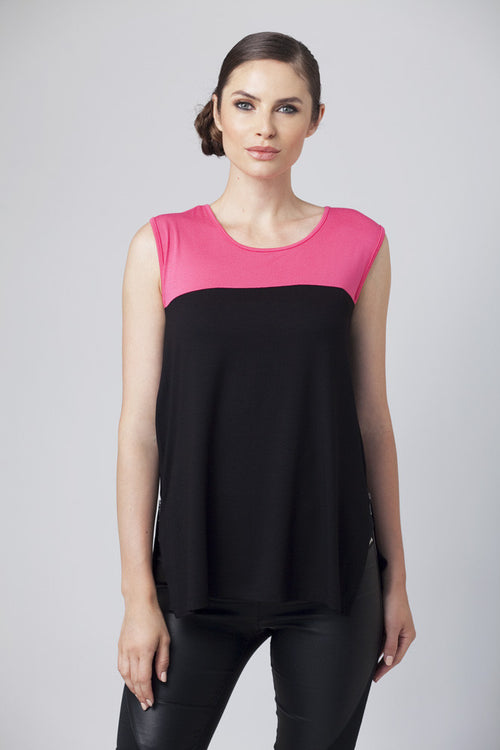 Color-Block Sleeveless Tank