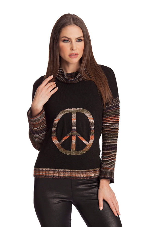 Stripe Peace Pullover