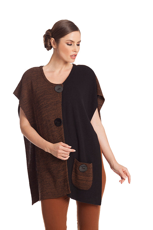 Large Button Poncho
