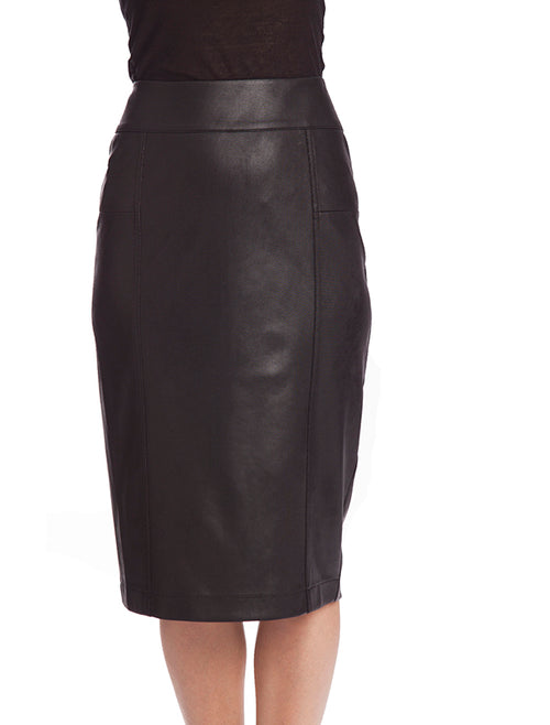 Microfiber Leather Long Skirt