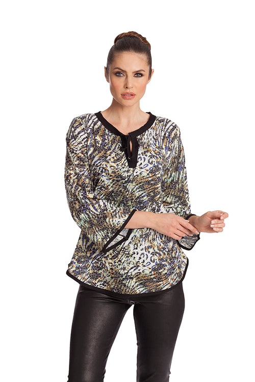 Leopard Tie Up Tunic