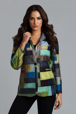 Cross Stitch Hooded Vest