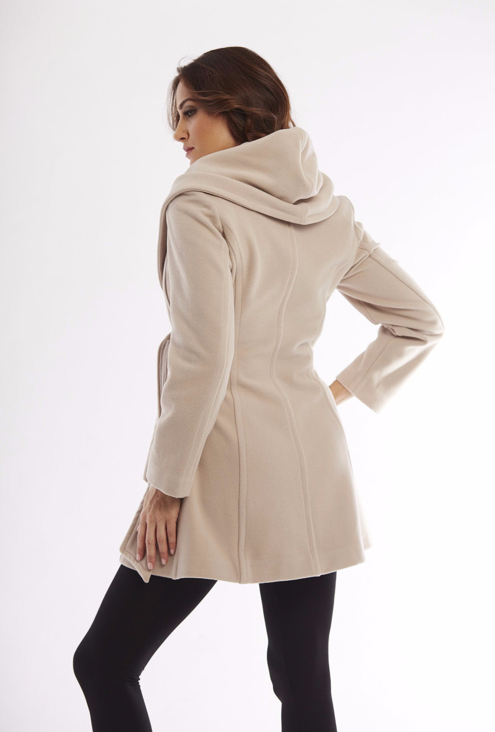 Hooded Wrap Coat W/ Belt