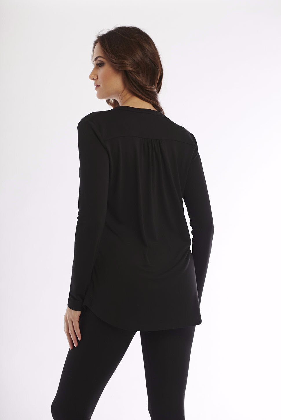 Wrinkle Free Drop Neck Blouse