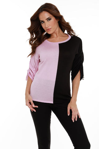 Color Blocked Pocket Tunic