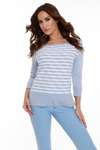 Diagonal Striped Top