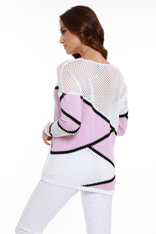 Large Zig Zag Netted Sweater
