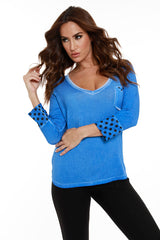 V-Neck Polka Dot Top