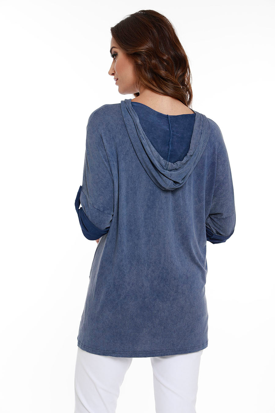 Hooded Drawstring Tunic W/ Pockets