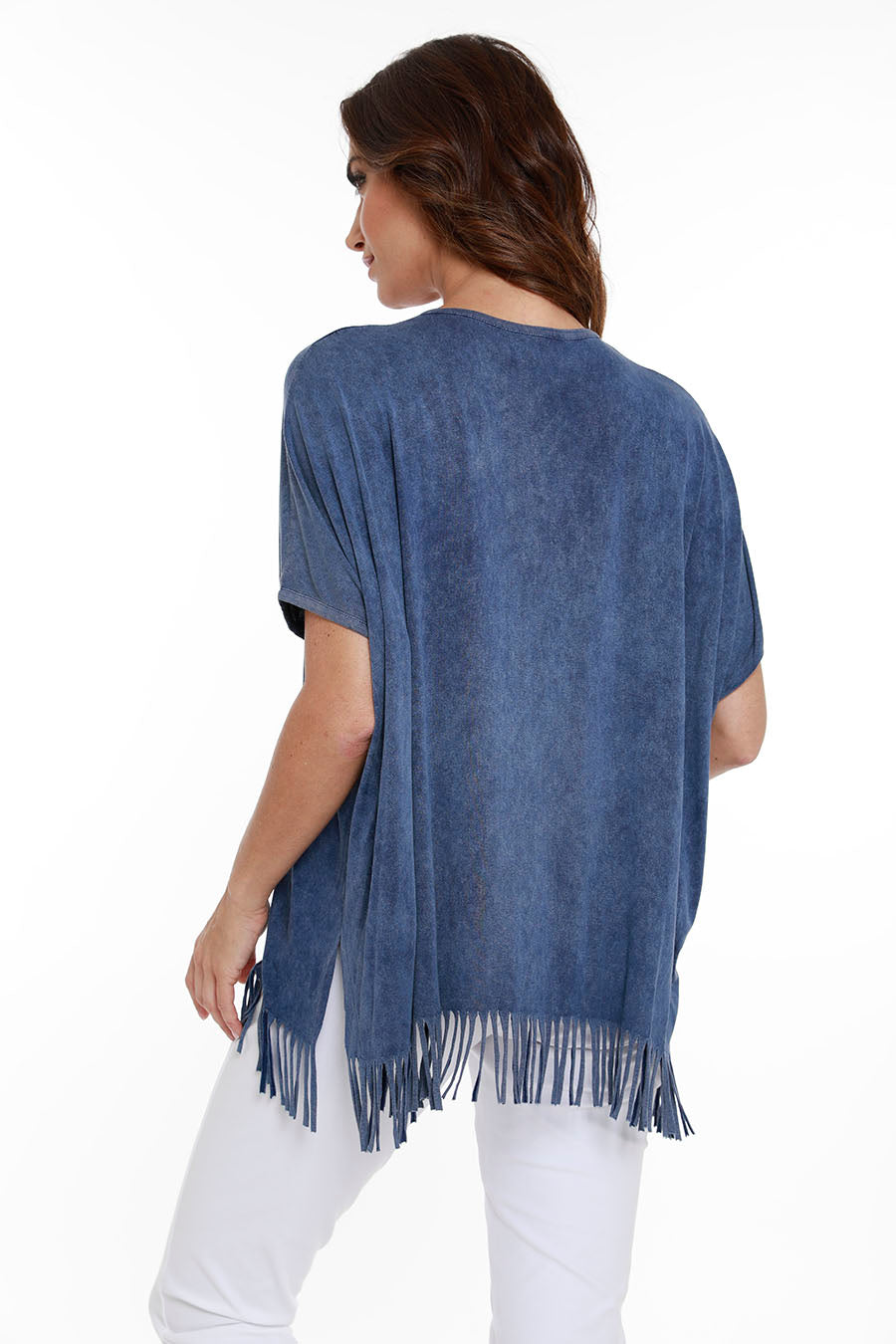 Short Sleeve Fringe Tunic