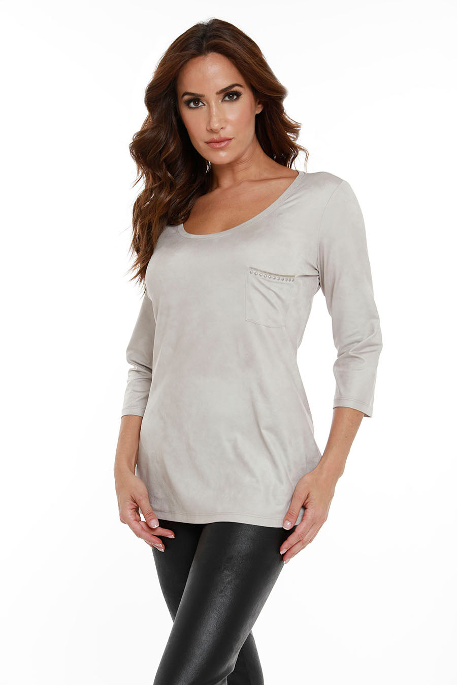 Microfiber Tunic W/ Pocket