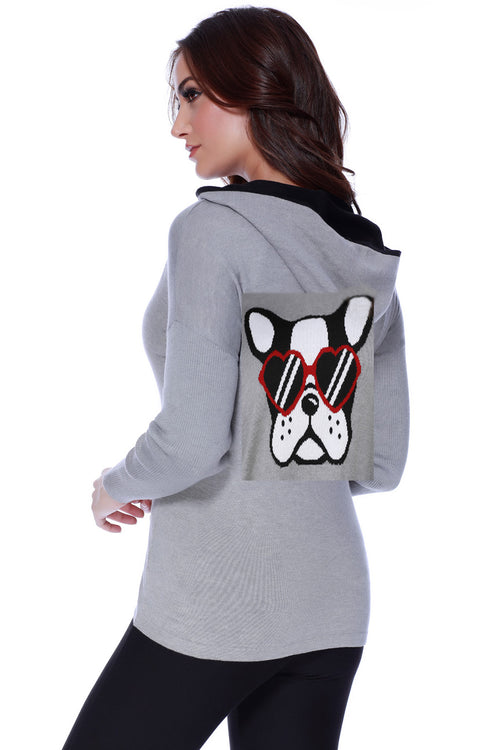 Puppy Love Hooded Cardigan