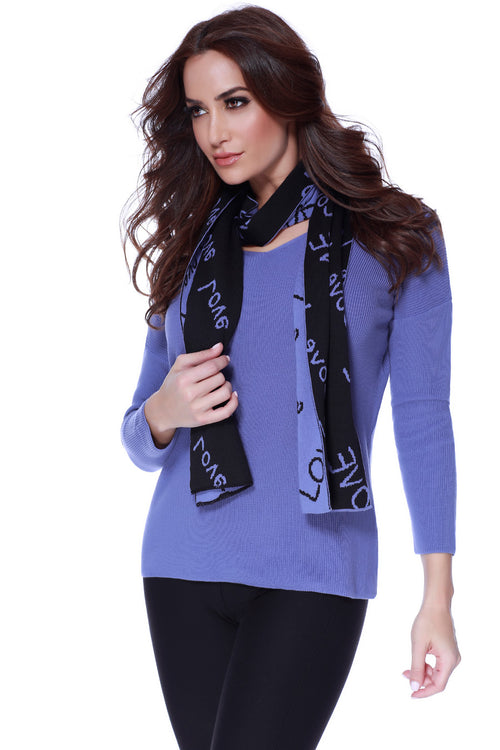 Love Pullover W/ Scarf