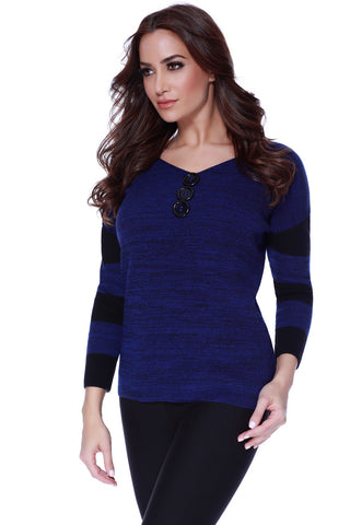 Detachable Mock Neck Pullover