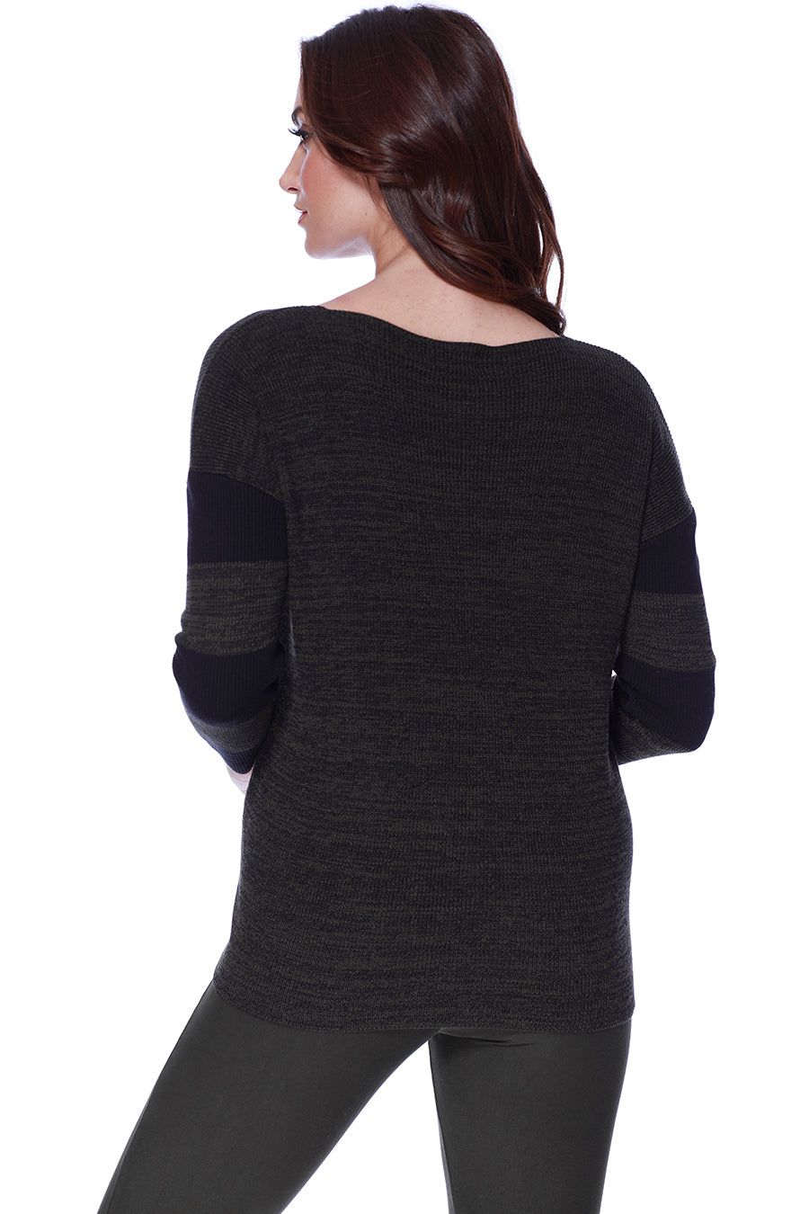 V- Neck Button Pullover