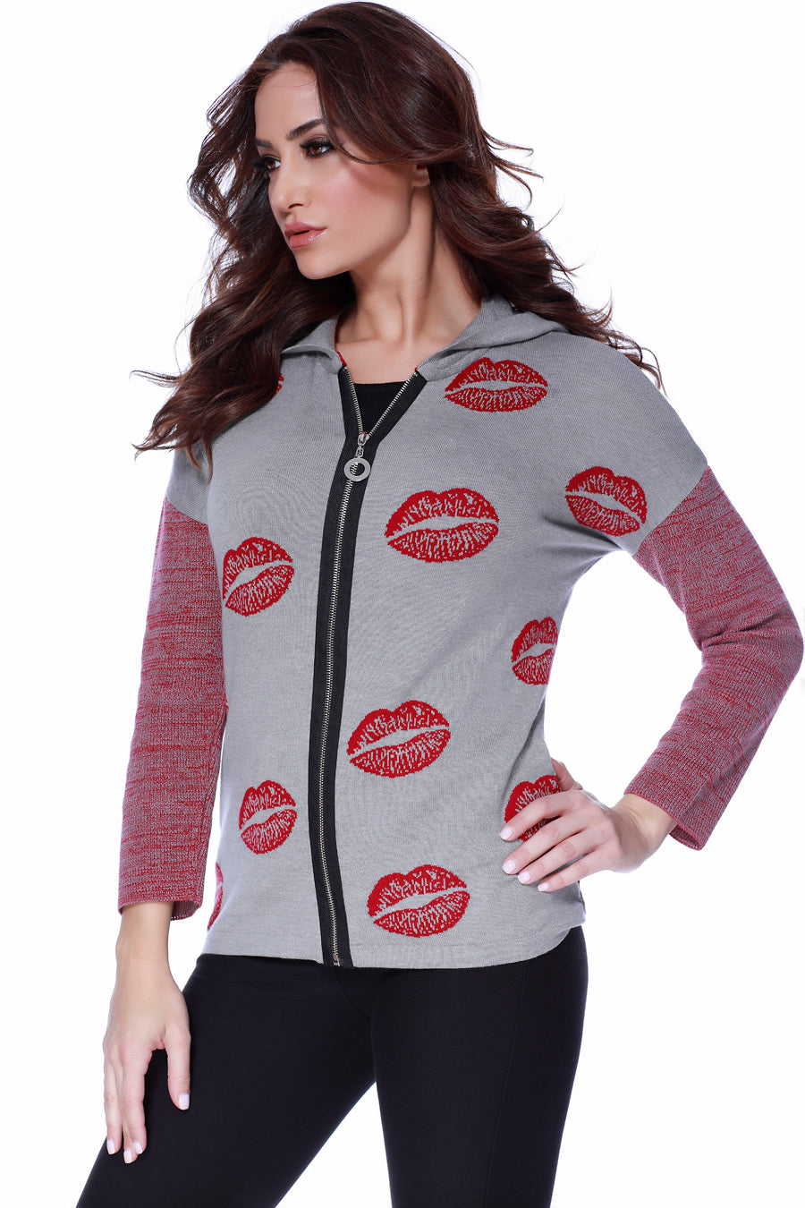 Kisses Me Hooded Cardigan