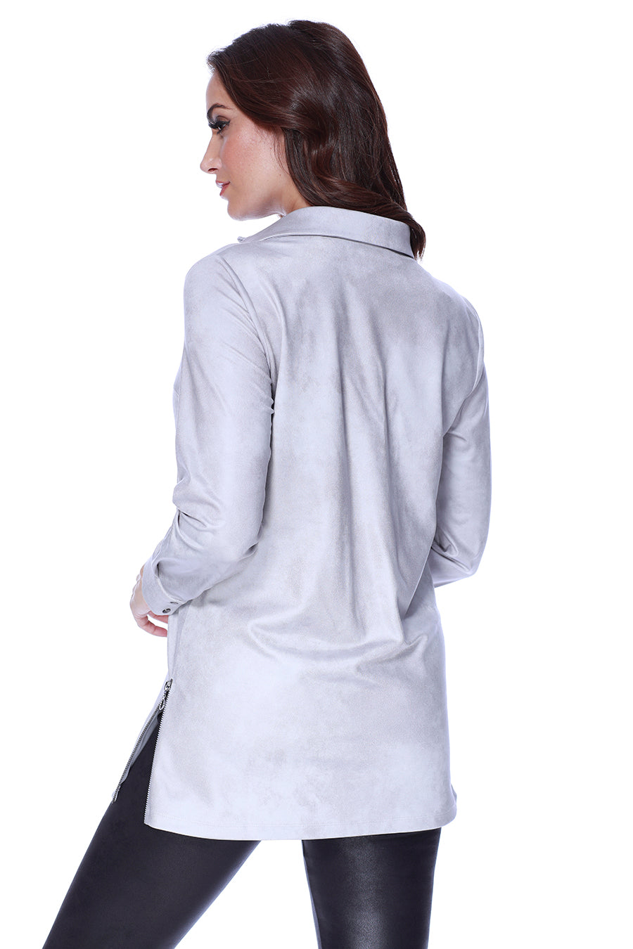 Microfiber Leather Side Silt Tunic