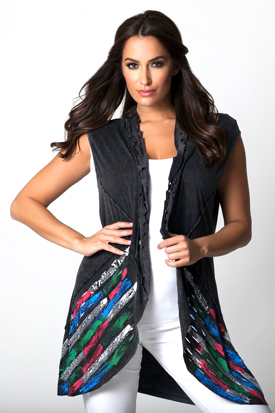Hand Painted Laser Cut Vest