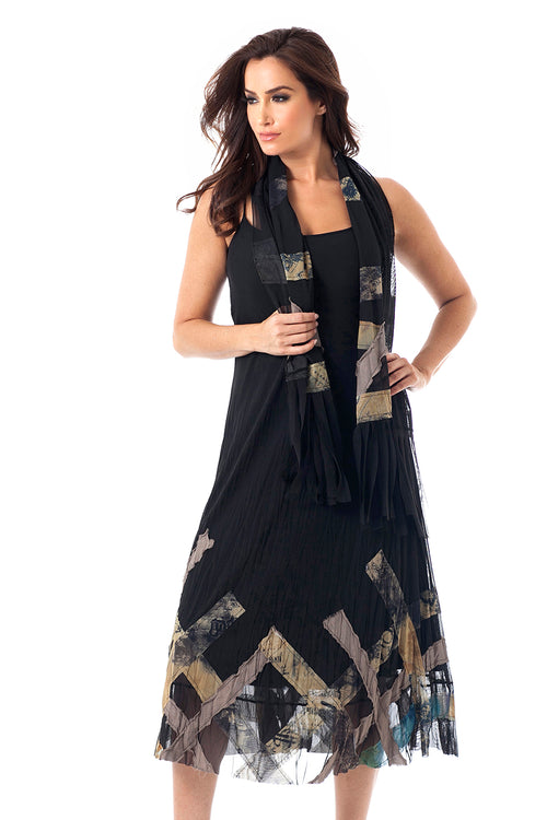 Mosaic Maxi Dress W/ Scarf