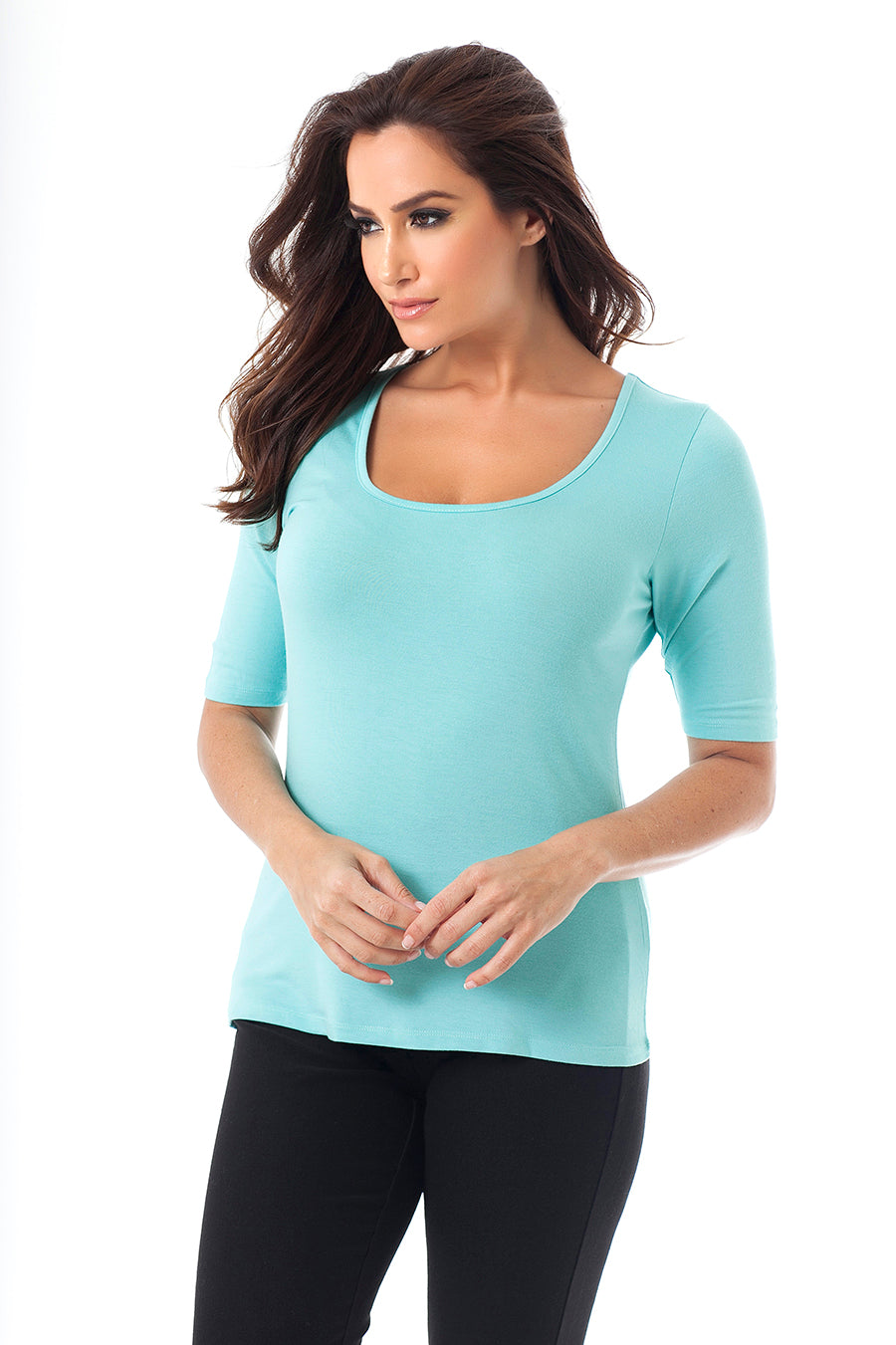 Short Sleeve Scoop Neck