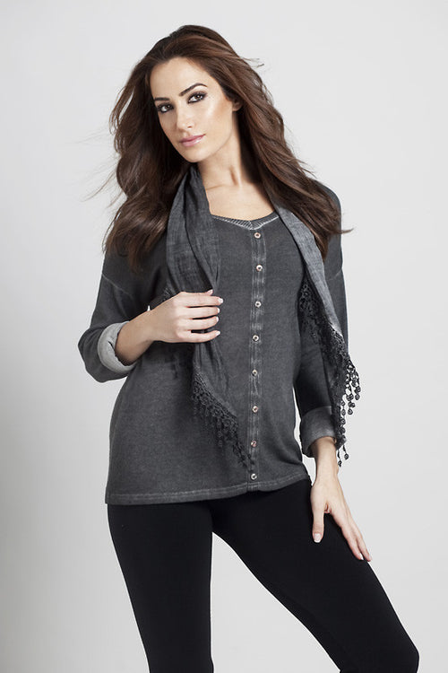 Front-to-Back Top w/Scarf