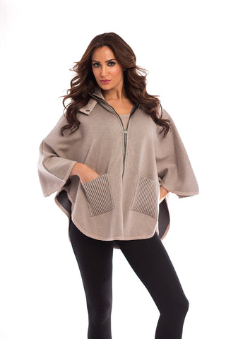 Falling In Love Zip Up Poncho