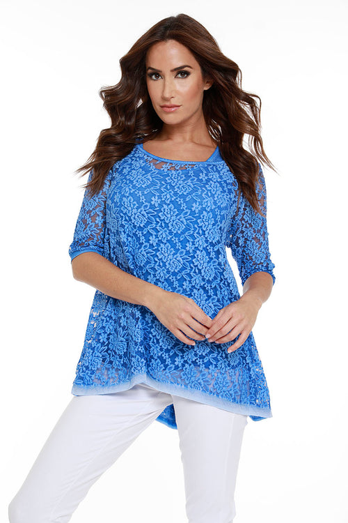 Lace 3/4 Sleeve Tunic