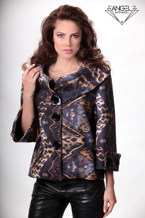 Folded Collar Tribal Coat