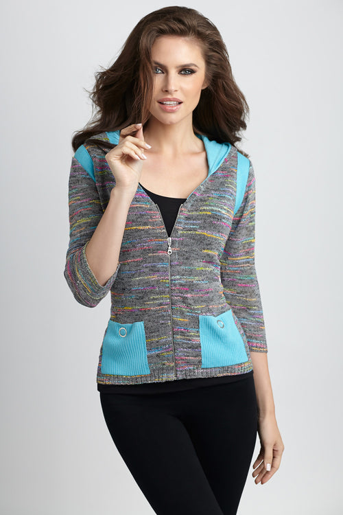 Colorblock Melange Cardigan