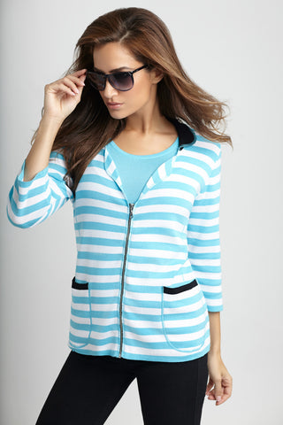 Zip Up Collar Cardigan