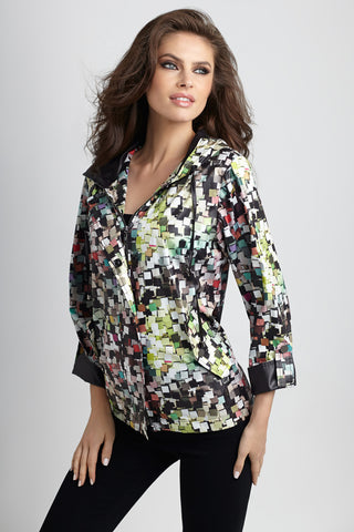 Side Zip Short Sleeve Coat