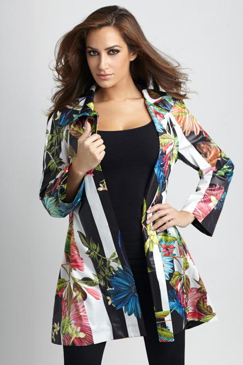 Tropical Snap-Front Rain Jacket